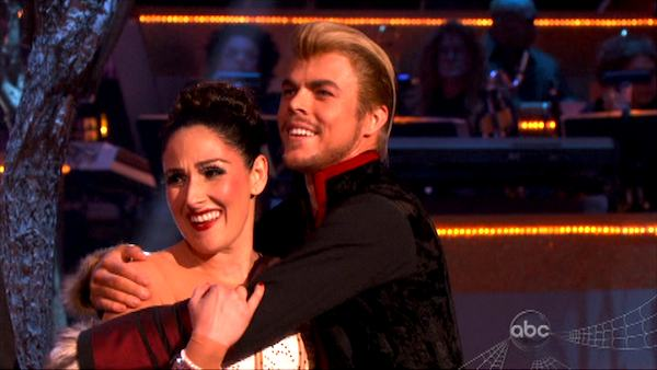 Talk show host and actress Ricki Lake and her partner Derek Hough received 27 out of 30 from the judges for their Paso Doble on the October 31 episode of &#39;Dancing With The Stars.&#39; <span class=meta>(ABC Photo)</span>