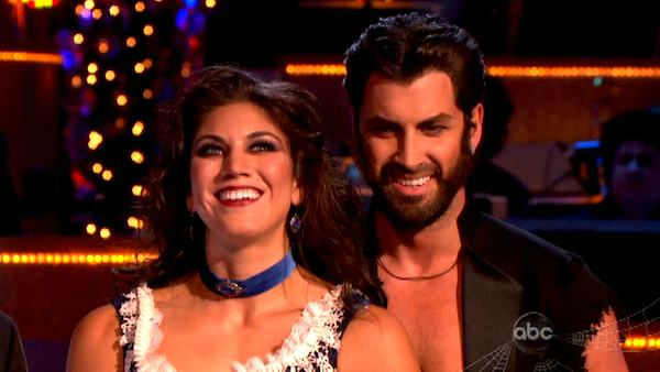 "<div class=""meta image-caption""><div class=""origin-logo origin-image ""><span></span></div><span class=""caption-text"">U.S. soccer star Hope Solo and her partner Maksim Chmerkovskiy received 24 out of 30 from the judges for their performance on the October 31 episode of 'Dancing With The Stars.'  (ABC Photo)</span></div>"