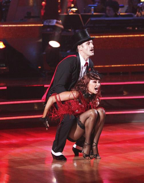 Actor David Arquette and his partner Kym Johnson received 24 out of 30 from the judges for their Cha Cha on the October 31 episode of 'Dancing With The Stars.'