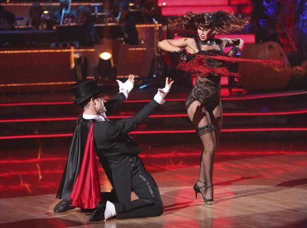 Actor David Arquette and his partner Kym Johnson received 24 out of 30 from the judges for their Cha Cha on the October 31 episode of &#39;Dancing With The Stars.&#39; <span class=meta>(ABC Photo)</span>
