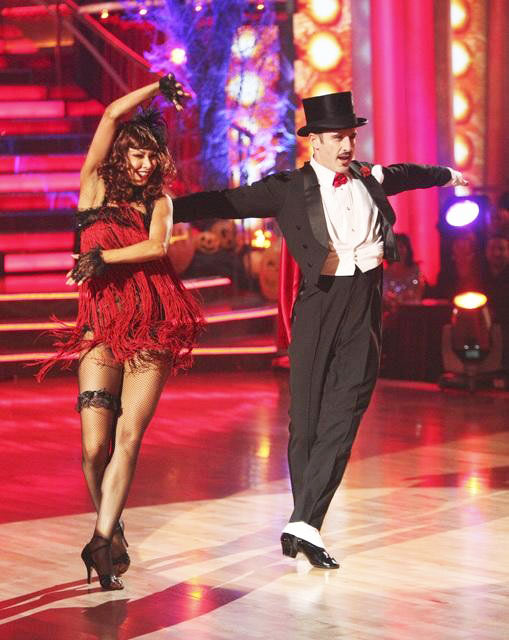 "<div class=""meta ""><span class=""caption-text "">Actor David Arquette and his partner Kym Johnson received 24 out of 30 from the judges for their Cha Cha on the October 31 episode of 'Dancing With The Stars.' (ABC Photo)</span></div>"
