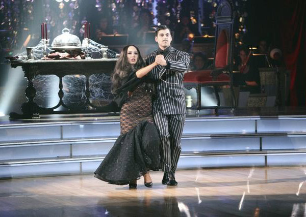 &#39;Keeping Up With The Kardashians&#39; star Rob Kardashian and his partner Cheryl Burke received 25 out of 30 from the judges for their Tango on the October 31 episode of &#39;Dancing With The Stars.&#39; <span class=meta>(ABC Photo)</span>