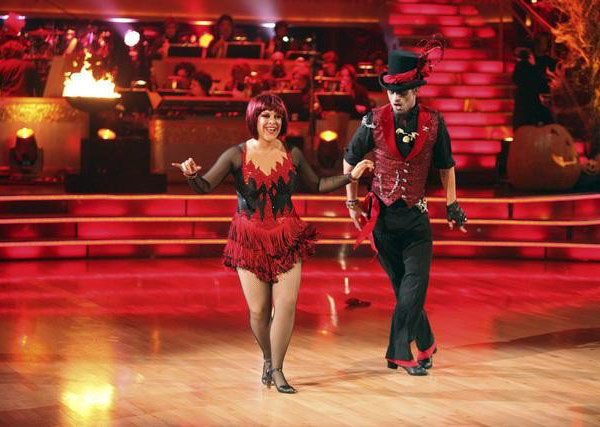 "<div class=""meta image-caption""><div class=""origin-logo origin-image ""><span></span></div><span class=""caption-text"">Television host Nancy Grace and her partner Tristan Macmanus received 21  out of 30 from the judges for their Jive on the October 31 episode of  'Dancing With The Stars.' (ABC Photo)</span></div>"