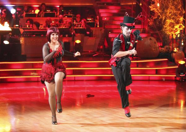 Television host Nancy Grace and her partner Tristan Macmanus received 21  out of 30 from the judges for their Jive on the October 31 episode of  &#39;Dancing With The Stars.&#39; <span class=meta>(ABC Photo)</span>