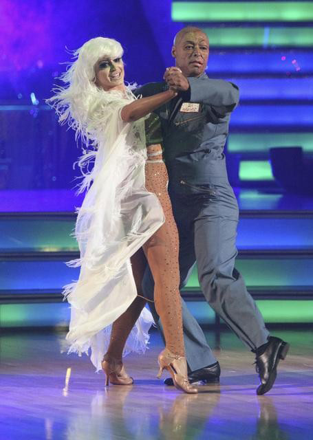 "<div class=""meta image-caption""><div class=""origin-logo origin-image ""><span></span></div><span class=""caption-text"">'All My Children' actor and Iraq War veteran J.R. Martinez and his  partner Karina Smirnoff received 25 out of 30 from the judges for their Tango on the October 31 episode 'Dancing With The Stars.' (ABC Photo)</span></div>"