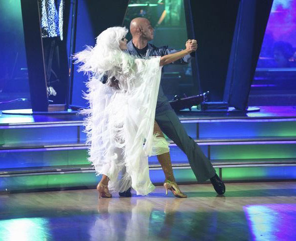 &#39;All My Children&#39; actor and Iraq War veteran J.R. Martinez and his  partner Karina Smirnoff received 25 out of 30 from the judges for their Tango on the October 31 episode &#39;Dancing With The Stars.&#39; <span class=meta>(ABC Photo)</span>
