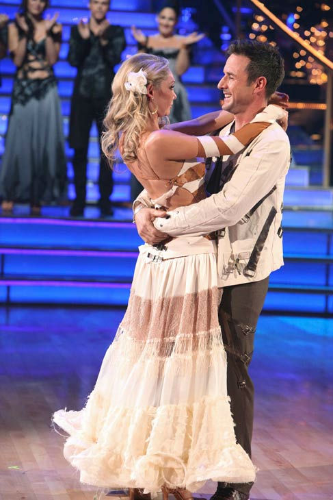 Actor David Arquette and his partner Kym Johnson react to being eliminated on &#39;Dancing With The Stars: The Results Show&#39; on Tuesday, November 1, 2011. The pair received 24 out of 30 from the judges for their Cha Cha on the October 31 episode of &#39;Dancing With The Stars.&#39;  <span class=meta>(ABC Photo&#47; Adam Taylor)</span>