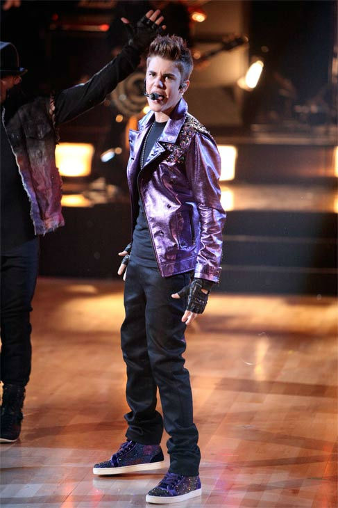 Justin Bieber hits the 'Dancing With The Stars' stage on Tuesday, November 1, 2011, to perform 'Never Say Never.'