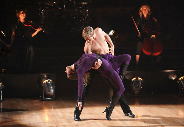 Pro dancer Derek Hough joined 'So You Think You Can Dance' dancer Alison Holker for a Latin infused choreographed number on 'Dancing With The Stars: The Results Show' on Tuesday, November 1, 2011.