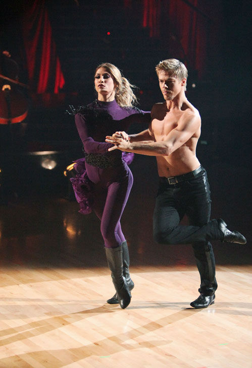 "<div class=""meta image-caption""><div class=""origin-logo origin-image ""><span></span></div><span class=""caption-text"">Pro dancer Derek Hough joined 'So You Think You Can Dance' dancer Alison Holker for a Latin infused choreographed number on 'Dancing With The Stars: The Results Show' on Tuesday, November 1, 2011.  (ABC Photo/ Adam Taylor)</span></div>"