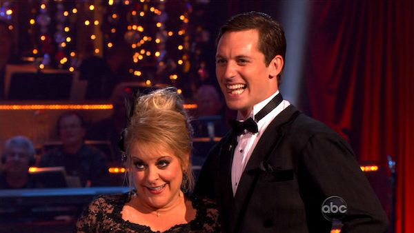 Television host Nancy Grace and her partner Tristan Macmanus received 24 out of 30 from the judges for their Tango and 20 out of 30 for their Instant Jive, for a total of 44 on the November 7 episode of 'Dancing With The Stars.'