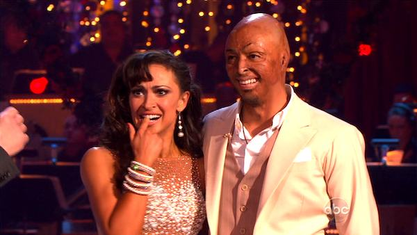 &#39;All My Children&#39; actor and Iraq War veteran J.R. Martinez and his partner Karina Smirnoff received 30 out of 30 from the judges for their Waltz and 30 out of 30 for their Instant Jive, for a total of 60 on the November 7 episode of &#39;Dancing With The Stars.&#39; <span class=meta>(ABC)</span>