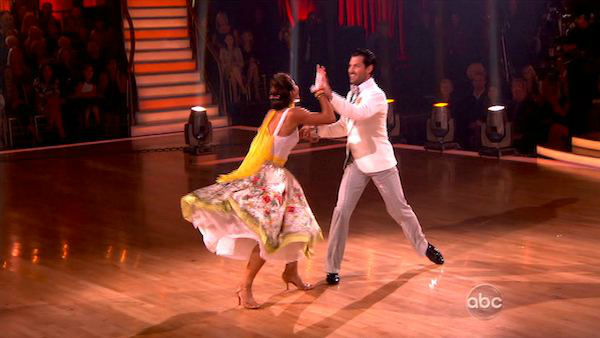 "<div class=""meta ""><span class=""caption-text "">U.S. soccer star Hope Solo and her partner Maksim Chmerkovskiy received 27 out of 30 from the judges for their Quickstep and 25 points out of 30 for their Instant Jive, for a total of 52 points on the November 7 episode of 'Dancing With The Stars.' (ABC)</span></div>"