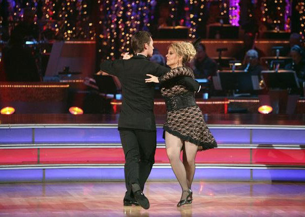 "<div class=""meta image-caption""><div class=""origin-logo origin-image ""><span></span></div><span class=""caption-text"">Television host Nancy Grace and her partner Tristan Macmanus received 24 out of 30 from the judges for their Tango and 20 out of 30 for their Instant Jive, for a total of 44 on the November 7 episode of 'Dancing With The Stars.' (ABC)</span></div>"