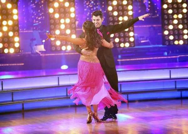 &#39;Keeping Up With The Kardashians&#39; star Rob Kardashian and his partner Cheryl Burke received 27 points out of 30 from the judges for their Quickstep and 24 out of 30 for their Instant Jive, for a total of 51 points on the November 7 episode of &#39;Dancing With The Stars.&#39; <span class=meta>(ABC)</span>
