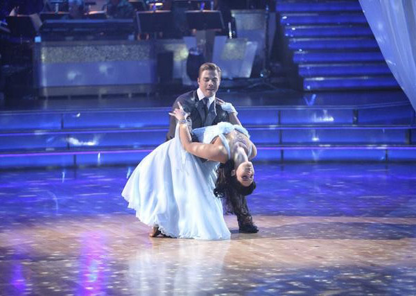 Talk show host and actress Ricki Lake and her partner Derek Hough received 28 out of 30 from the judges for their Waltz and 24 out of 30 for their Instant Jive, for a total of 52 on the November 7 episode of &#39;Dancing With The Stars.&#39; <span class=meta>(ABC)</span>