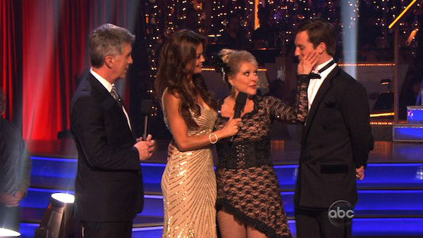 "<div class=""meta image-caption""><div class=""origin-logo origin-image ""><span></span></div><span class=""caption-text"">Television host Nancy Grace and her partner Tristan Macmanus react to being eliminated on 'Dancing With The Stars: The Results Show' on Tuesday, November 8, 2011. The pair received 24 out of 30 from the judges for their Tango and 20 out of 30 for their Instant Jive, for a total of 44 on the November 7 episode of 'Dancing With The Stars.' (ABC Photo)</span></div>"