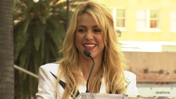 Singer Shakira receives a star on the Hollywood...