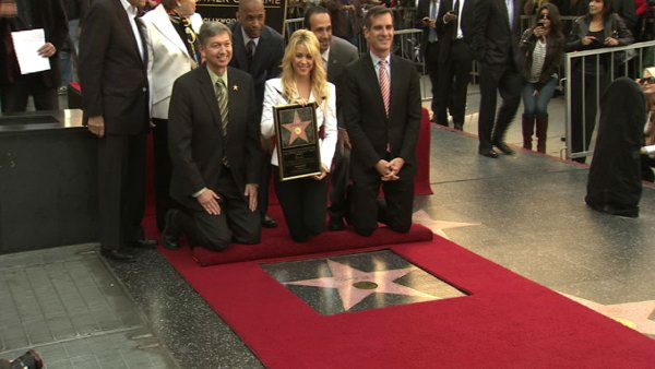 Singer Shakira receives a star on the Hollywood Walk of Fame in Los Angeles Tuesday, Nov. 8, 2011. <span class=meta>(OTRC Photo)</span>