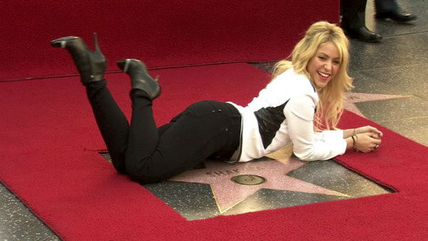 Singer Shakira receives a star on the Hollywood Walk of Fame in Los Angeles Tuesday, Nov. 8, 2011.