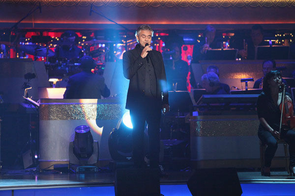 "<div class=""meta image-caption""><div class=""origin-logo origin-image ""><span></span></div><span class=""caption-text"">Italian singer Andrea Bocelli graced the 'Dancing With The Stars' stage with performance of 'More' with Chris Botti on 'Dancing With The Stars: The Results Show' on Tuesday, November 8, 2011. The Troupe accompanied their performance. (ABC Photo/ Adam Taylor)</span></div>"