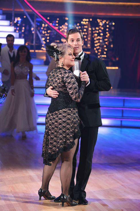 Television host Nancy Grace and her partner Tristan Macmanus react to being eliminated on &#39;Dancing With The Stars: The Results Show&#39; on Tuesday, November 8, 2011. The pair received 24 out of 30 from the judges for their Tango and 20 out of 30 for their Instant Jive, for a total of 44 on the November 7 episode of &#39;Dancing With The Stars.&#39;  <span class=meta>(ABC Photo&#47; Adam Taylor)</span>