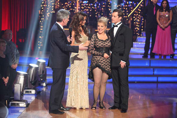 "<div class=""meta image-caption""><div class=""origin-logo origin-image ""><span></span></div><span class=""caption-text"">Television host Nancy Grace and her partner Tristan Macmanus react to being eliminated on 'Dancing With The Stars: The Results Show' on Tuesday, November 8, 2011. The pair received 24 out of 30 from the judges for their Tango and 20 out of 30 for their Instant Jive, for a total of 44 on the November 7 episode of 'Dancing With The Stars.'  (ABC Photo/ Adam Taylor)</span></div>"
