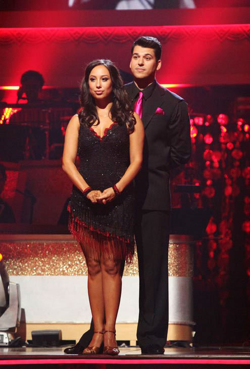 &#39;Keeping Up With The Kardashians&#39; star Rob Kardashian and his partner Cheryl Burke await possible elimination on &#39;Dancing With The Stars: The Results Show&#39; on Tuesday, November 8, 2011. The pair received 27 points out of 30 from the judges for their Quickstep and 24 out of 30 for their Instant Jive, for a total of 51 points on the November 7 episode of &#39;Dancing With The Stars.&#39;  <span class=meta>(ABC Photo&#47; Adam Taylor)</span>