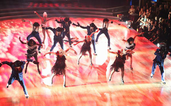The week&#39;s &#39;Macy&#39;s Stars of Dance&#39; performance was the television premiere of the new Cirque du Soleil show, &#39;Michael Jackson THE IMMORTAL World Tour,&#39; on Tuesday, November 8, 2011. The Troupe accompanied their performance. The cast of dancers and acrobats were featured in a montage featuring the Michael Jackson singles &#39;Smooth Criminal&#39; and &#39;Billie Jean.&#39;   <span class=meta>(ABC Photo&#47; Adam Taylor)</span>