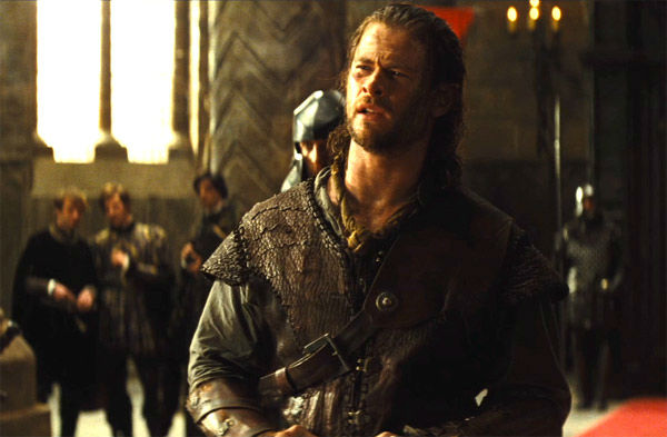 Chris Hemsworth appears in a still from 'Snow White and the Huntsman,' which is slated for release on June 1, 2012.