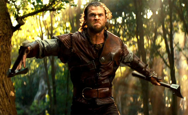 Chris Hemsworth appears in a still from 'Snow...