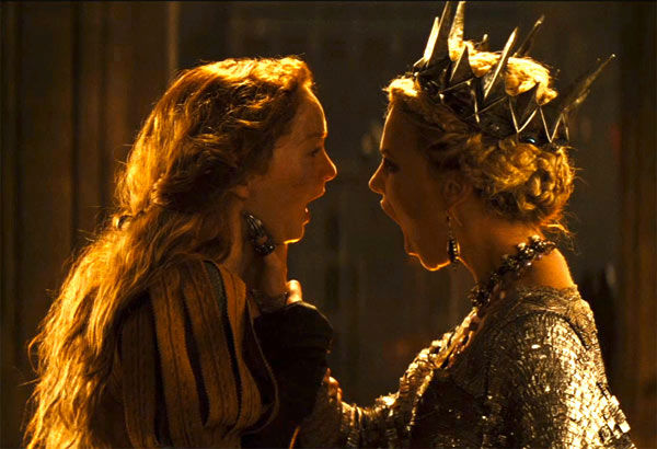 "<div class=""meta image-caption""><div class=""origin-logo origin-image ""><span></span></div><span class=""caption-text"">Charlize Theron and Lily Cole appear in a still from 'Snow White and the Huntsman,' which is slated for release on June 1, 2012. (FilmEngine / Universal Pictures)</span></div>"