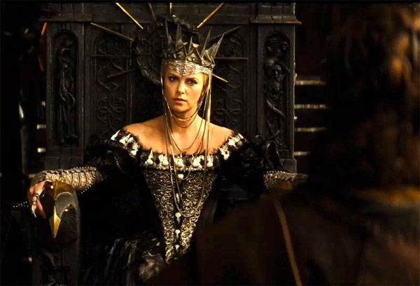 "<div class=""meta image-caption""><div class=""origin-logo origin-image ""><span></span></div><span class=""caption-text"">Charlize Theron appears in a still from 'Snow White and the Huntsman,' which is slated for release on June 1, 2012.  (FilmEngine / Universal Pictures)</span></div>"