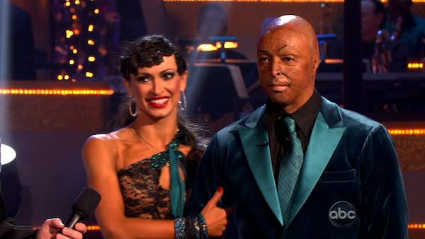 "<div class=""meta ""><span class=""caption-text "">'All My Children' actor and Iraq War veteran J.R. Martinez and his partner Karina Smirnoff received 23 out  of 30 from the judges for their Paso Doble and 27 out of 30 for their Argentine Tango and 6 bonus points for their Cha Cha relay for a total of 56 points on the November 14 episode of 'Dancing With The Stars.' (ABC Photo/ ABC)</span></div>"