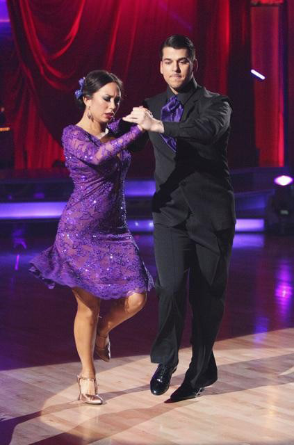 &#39;Keeping Up With The Kardashians&#39; star Rob Kardashian and his partner Cheryl Burke received 28 out of  30 from the judges for their Paso Doble and 27 out of 30 for their Argentine Tango and 10 bonus points for their Cha Cha relay for a total of 65 points on the November 14 episode of &#39;Dancing With The Stars.&#39; <span class=meta>(ABC Photo&#47; ABC)</span>