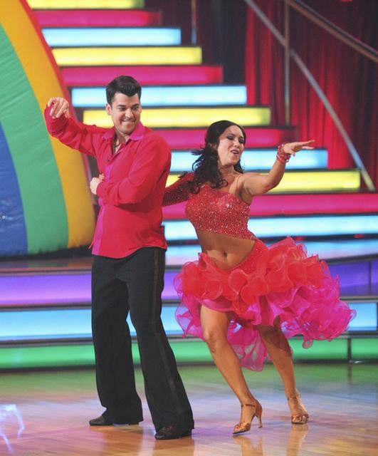 'Keeping Up With The Kardashians' star Rob Kardashian and his partner Cheryl Burke received 28 out of 30 from the judges for their Paso Doble and 27 out of 30 for their Argentine Tango and 10 bonus points for their Cha Cha relay for a total of 65 points o