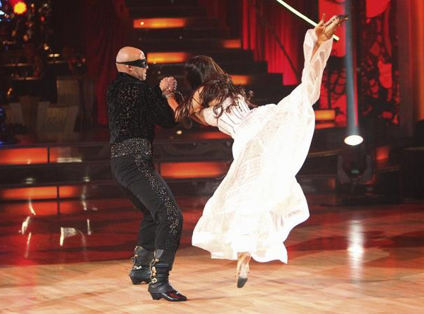 "<div class=""meta image-caption""><div class=""origin-logo origin-image ""><span></span></div><span class=""caption-text"">'All My Children' actor and Iraq War veteran J.R. Martinez and his partner Karina Smirnoff received 23 out  of 30 from the judges for their Paso Doble and 27 out of 30 for their Argentine Tango and 6 bonus points for their Cha Cha relay for a total of 56 points on the November 14 episode of 'Dancing With The Stars.' (ABC Photo/ ABC)</span></div>"