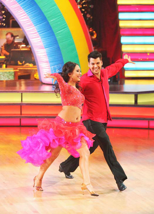 &#39;Keeping Up With The Kardashians&#39; star Rob Kardashian and his partner Cheryl Burke performed an encore of their Samba on &#39;Dancing With The Stars: The Results Show&#39; on Tuesday, November 15, 2011. <span class=meta>(ABC Photo&#47; Adam Taylor)</span>