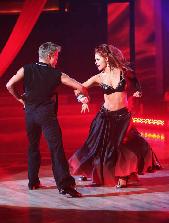 "<div class=""meta image-caption""><div class=""origin-logo origin-image ""><span></span></div><span class=""caption-text"">The final 'Macy's Stars of Dance' performance this season featured pros Derek Hough and Anna Trebunskaya on 'Dancing With The Stars: The Results Show' on Tuesday, November 15. The two performed a Paso Doble to 'Bad Romance.'  (ABC Photo/ Adam Taylor)</span></div>"
