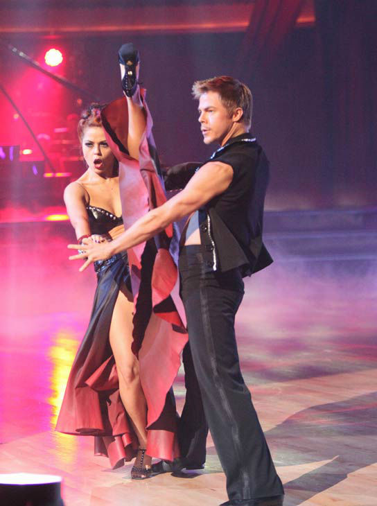 The final &#39;Macy&#39;s Stars of Dance&#39; performance this season featured pros Derek Hough and Anna Trebunskaya on &#39;Dancing With The Stars: The Results Show&#39; on Tuesday, November 15. The two performed a Paso Doble to &#39;Bad Romance.&#39;  <span class=meta>(ABC Photo&#47; Adam Taylor)</span>
