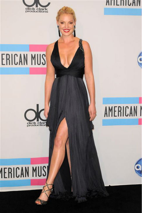 Katherine Heigl appears at the 2011 American Music Awards in Los Angeles on Nov. 20, 2011. <span class=meta>(Kyle Rover &#47; Startraksphoto.com)</span>