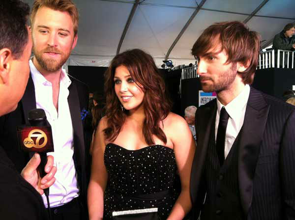 Lady Antebellum talks to OnTheRedCarpet.com 39th Annual American Music Awards on Sunday, Nov. 20, 2011 in Los Angeles. <span class=meta>(OTRC Photo)</span>