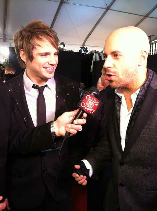 Daughtry talks to OnTheRedCarpet.com 39th Annual American Music Awards on Sunday, Nov. 20, 2011 in Los Angeles. <span class=meta>(OTRC Photo)</span>