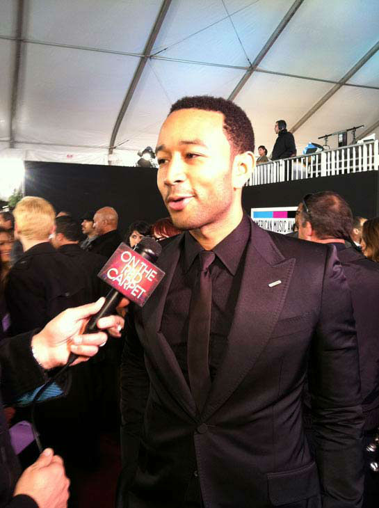 John Legend talks to OnTheRedCarpet.com 39th Annual American Music Awards on Sunday, Nov. 20, 2011 in Los Angeles. <span class=meta>(OTRC Photo)</span>