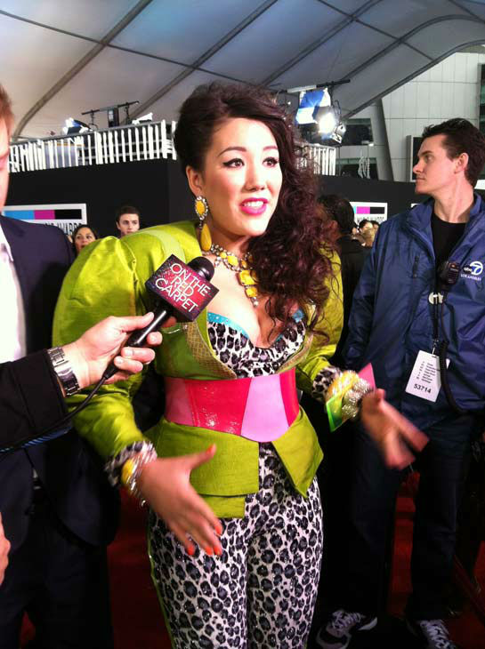 Manika talks to OnTheRedCarpet.com 39th Annual American Music Awards on Sunday, Nov. 20, 2011 in Los Angeles. <span class=meta>(OTRC Photo)</span>