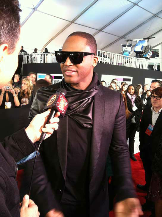 "<div class=""meta ""><span class=""caption-text "">Taio Cruz talks to OnTheRedCarpet.com 39th Annual American Music Awards on Sunday, Nov. 20, 2011 in Los Angeles. (OTRC Photo)</span></div>"
