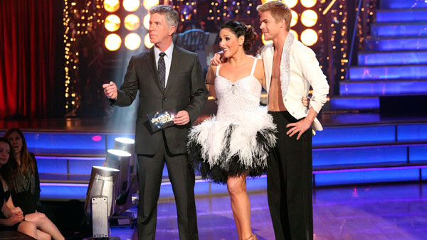 "<div class=""meta image-caption""><div class=""origin-logo origin-image ""><span></span></div><span class=""caption-text"">Talk show host and actress Ricki Lake and her partner Derek Hough received 27 out of 30 from the judges for their Cha Cha Cha and 27 out of 30 for their Freestyle dance for a total of 54 out of 60 points on the November 21 episode of 'Dancing With The Stars.' (ABC Photo)</span></div>"