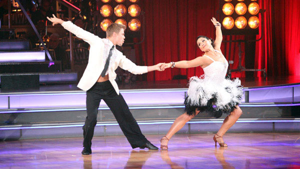 "<div class=""meta ""><span class=""caption-text "">Talk show host and actress Ricki Lake and her partner Derek Hough received 27 out of 30 from the judges for their Cha Cha Cha and 27 out of 30 for their Freestyle dance for a total of 54 out of 60 points on the November 21 episode of 'Dancing With The Stars.' (ABC Photo)</span></div>"