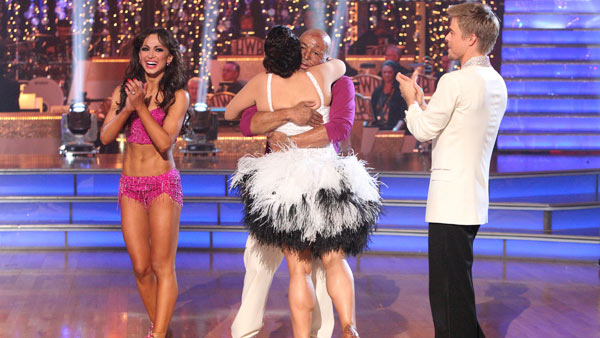 &#39;All My Children&#39; actor and Iraq War veteran J.R. Martinez and his partner Karina Smirnoff received 24 out of 30 from the judges for their Cha Cha Cha and 30 out of 30 for their Freestyle dance for a total of 54 out of 60 points on the November 21 episode of &#39;Dancing With The Stars.&#39;&#39;All My Children&#39; actor and Iraq War veteran J.R. Martinez and his partner Karina Smirnoff received 24 out of 30 from the judges for their Cha Cha Cha and 30 out of 30 for their Freestyle dance for a total of 53 out of 60 points on the November 21 episode of &#39;Dancing With The Stars.&#39; <span class=meta>(ABC Photo)</span>