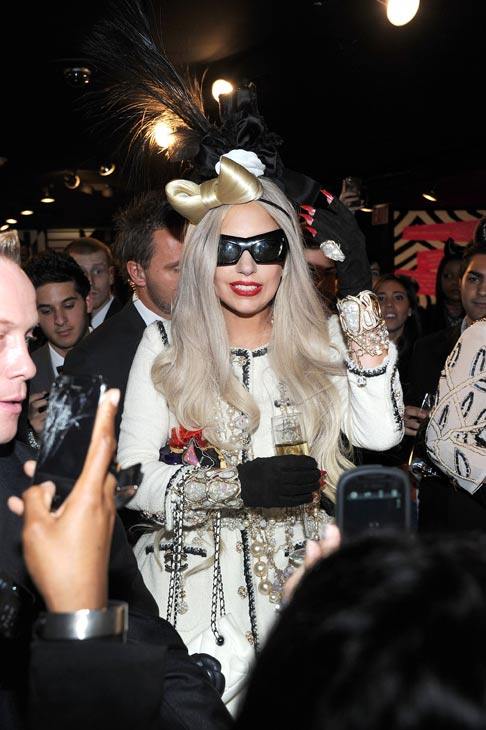 "<div class=""meta ""><span class=""caption-text "">Lady Gaga appears in a photo from the unveiling of 'Gaga's Workshop' at Barneys New York on November 21.  Gaga teamed with Barneys New York to open 'Gaga's Workshop,' which is a take on Santa's iconic and traditional workshop. The 25-year-old singer teamed with other creative talents to create a quirky holiday destination filled with exclusive products and festive holiday windows. Barneys New York is donating 25 percent of sales from the featured items to the Born This Way Foundation, recently founded and announced by Gaga and her mother.  (Pictured: Lady Gaga appears in a photo from the unveiling of 'Gaga's Workshop' at Barneys New York on November 21.)  (Jamie McCarthy)</span></div>"